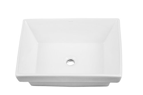 Semi Recessed Wall (DECOLAV 1489-CWH Brier Classically Redefined Rectangular Semi-Recessed Lavatory Sink, White)