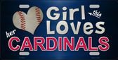 This Girl LOVES her Cardinals Novelty Metal License Plate Tag