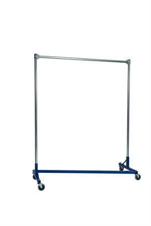 Quality Fabricators Heavy Duty Garment Z-Rack : Single Rail - 5' Base x 6' Up..