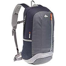 QUECHUA NH100 20L HIKING BACKPACK - BLACK/GREY