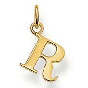 Jew :925 silver letter New style 18K Gold Plated R pendant charms (1.3x1cm) fit bracele, DIY jewelry, CH-M169