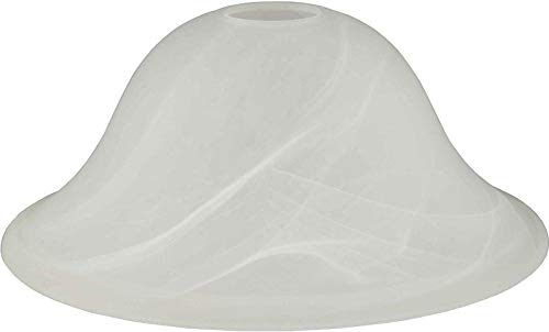 Hardware House 16-5327 Replacement Dover Alabaster Glass Satin Nickel