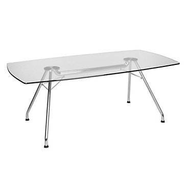 77u0026quot; X 39u0026quot; Glass Top Conference Table