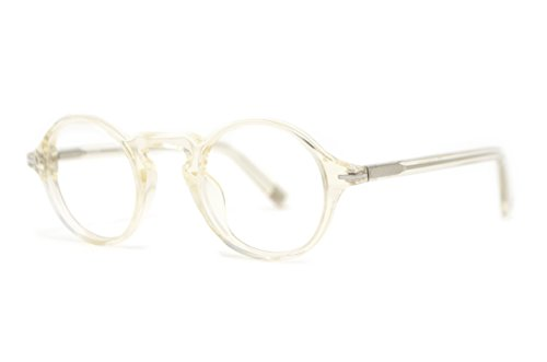 Fisher - Retro British Fashion Reading Glasses for Men - Round Trendy Readers from Scojo New York - Antique Crystal (+2.50 Magnification Power)