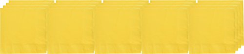 - Sunshine Yellow 3-Ply Dinner Napkins | Pack of 20 | Party Supply