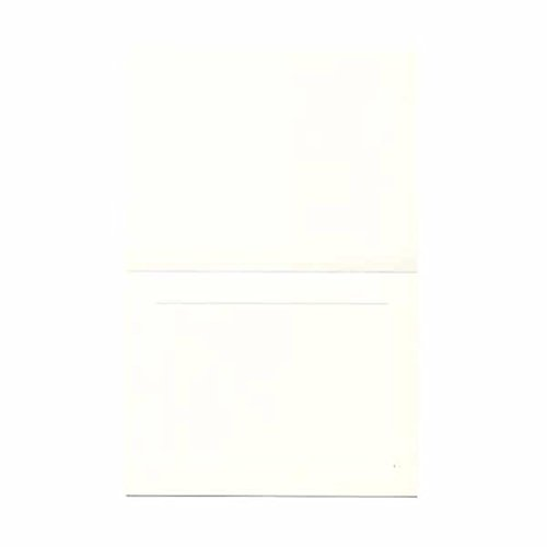 JAM Paper Glossy Foldover Cards - 4 5/8'' x 6 1/4'' (Fits in A6 Envelopes) - White - 500/pack by JAM Paper
