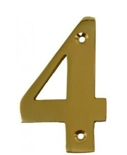 House Door Numerals Numbers - Number 4 - in Polished Brass - Gold  sc 1 st  Amazon UK & House Door Numerals Numbers - Number 4 - in Polished Brass - Gold ...
