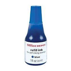 (Office Depot Self-Inking Refill Ink, 1 Oz., Blue, 034209 by Office Depot)