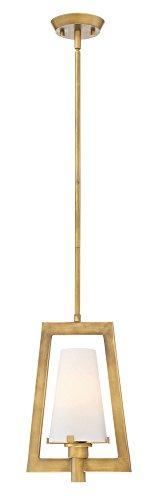 Designers Fountain 87930-VTG Hyde Park - One Light Mini Pendant, Vintage Gold Finish with Opal Glass - Vintage Gold Mini
