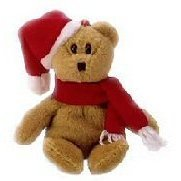 Ty Jingle Beanies 1997 Holiday Teddy - Bear