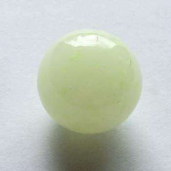 ZAMTAC 7pcs/lot 20mm Jade Marbles Pearl Luminous Glass Ball Craft Decoration Children's Toys Ball - (Color: Jade)