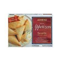 Athens Foods Three Cheese Blend Fillo Triangle Tyropita - Appetizer, 12 Ounce -- 12 per case.