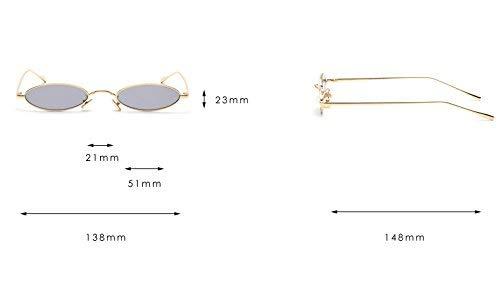 gafas para ovaladas sol de de dorado de Gafas diseño mujer retro rojas redondas gafas hombres sol para y gris sol y pequeñas color wn0EF6
