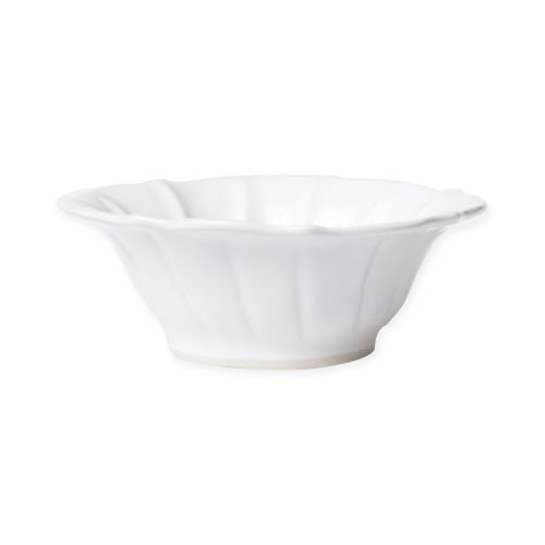 - Vietri Incanto Stone White Ruffle Cereal Bowl