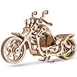 EWA Eco-Wood-Art Model - Cruiser, 3D Wooden Puzzle, Eco Friendly, DIY Mechanical, Rubber-Band Motor, Self-Assembly, Without Glue