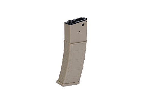 Lancer Tactical Airsoft Gameplay BB Airsoft Magazine M4 Multi-Mission 300rd Hi-Cap AEG Mag - TAN Airsoft Use