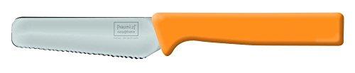 Home Xpert Frühstücksmesser KNIFE, Brötchenmesser, Tafelmesser, Brotzeitmesser, Wellenschliff, Soft-Griff in orange