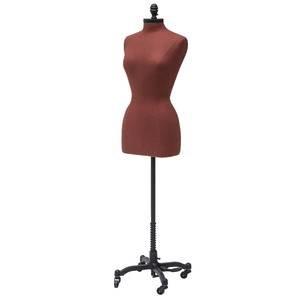 Female Linen Dress Form w/Neck Block & Base, Copper