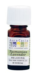 Aura Cacia Tasmanian Lavender Essential Oil, 0.125Oz Bottle 0.125 Ounce Bottle