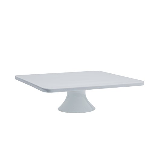 Denmark - 12 Inch sq.ft White Porcelain Cake