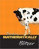 Thinking Mathematically, Blitzer, Robert, 0131920111