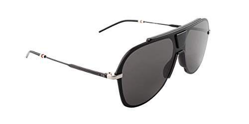 Dior Homme 0224S O6W 2K Black Ruthenium Plastic Aviator Sunglasses Grey Lens