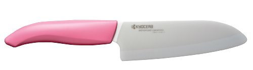 Kyocera Advanced Ceramic Revolution Series 5-1/2-inch Santoku Knife, Pink Handle (Susan G. Komen Special Edition)
