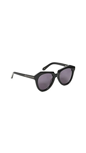 Karen Walker Women's Number One Sunglasses, Black/Smoke Mono, One - Walker Karen One