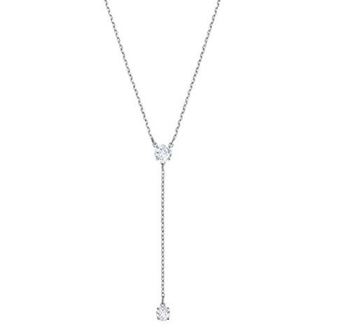 Lariat Crystal Necklace Swarovski (Swarovski Crystal Attract Rhodium-Plated Lariat Necklace)