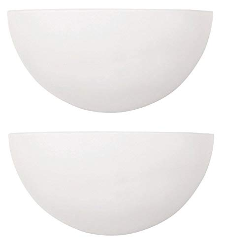 White Finish Opal (Capital Lighting 1-Light Wall Sconce, Matte White Finish with Opal Glass (2 Pack))