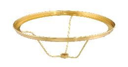 Antique Brass Shade Holder (B&P Lamp Solid Brass Under-Socket 7