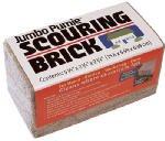 U.S. Pumice Scouring Brick 6 '' X 2-3/4 '' X 2-3/4 '' Lime Neutral