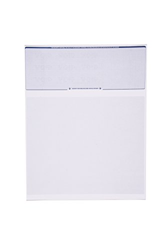 Check O Matic Computer Check Paper  Pack of 100 Blank Stock Payroll Sheets with Check on Top and Stub on Bottom  Security Features & Laser Printer Compatible for Home and Business  Blue Diamond