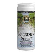 Magnesium Serene Powder, Tangerine Flavor 9 oz by Source Naturals (Pack of 2)