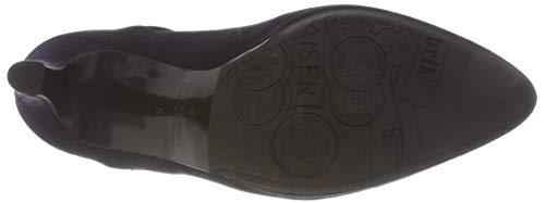 De Zapatos Cerrada Suede Mujer Para navy Azul Punta Peter 238 Kaiser Tacón Con Hilina HEHtwf