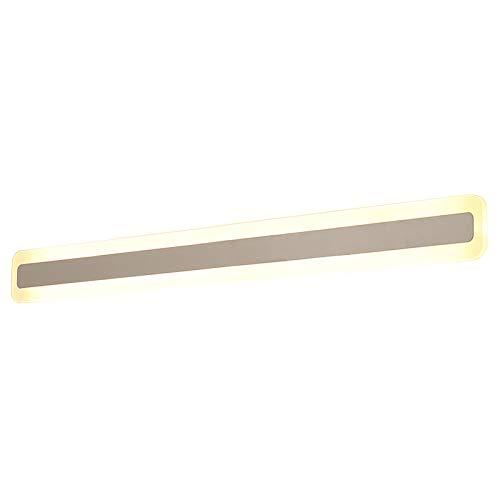 ALUK- Spiegelleuchte Modernes minimalistisches Badezimmer wasserdicht und Nebelwandlampe Persönlichkeit LED-Toilettenlicht weiß 40 60 80 100 120 × 9 × 4.5cm (Farbe   weißes Licht-40×9×4.5cm)