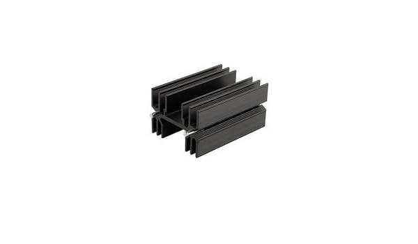 s CUI Inc HSE-B250-04H HSE Series 25 x 35 x 25.4 mm 3.26/°C//W Black Anodized PC Pin TO-220 Heatsink 25 item