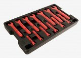 Wiha 20194 1/4-Inch to 1-Inch Insulated Wrench Set in Molded Storage Tray, 13-Piece by Wiha