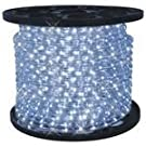 6.6 Feet Cool White LED Round Rope Lights 3/8 inch diameter - 110 Volts