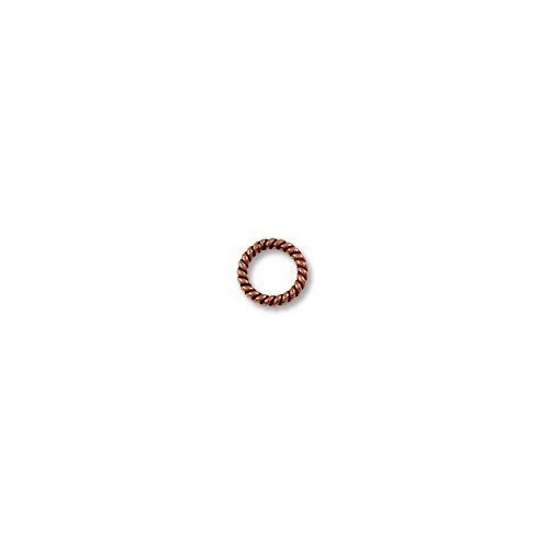 (Copper Jump Twisted Ring Closed 8mm (10-Pcs))
