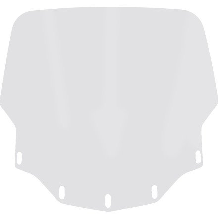 Memphis Shades Gold Wing 1800 Tall Vented Windshield - Clear (Windshield Tall Vented)
