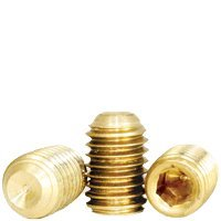 Socket Set Screw, Cup Point, 10-32 x 1/2'', Brass, Hex Socket (Quantity: 100) Fine Thread, 10 Grub/Blind/Allen/Headless Screw, Length: 1/2 inch