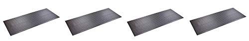 SuperMats Heavy Duty Equipment Mat 30GS Made in U.S.A. for Treadmills Ellipticals Rowing Machines Recumbent Bikes and Exercise Equipment (2.5-Feet x 6-Feet) (30'' x 72'') (4-(Pack))
