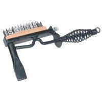Martillo de soldador, cincel W/cepillo, primavera mango de acero, 280 mm