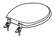 Thetford 34144 White Toilet Seat and Cover Assembly