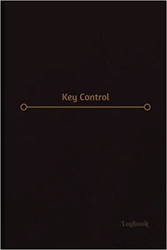 key control log logbook journal 120 pages 6 x 9 inches key