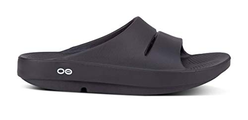 OOFOS Unisex Ooahh Slide Sandal,Black,11 B(M) US Women / 9 D(M) US Men]()