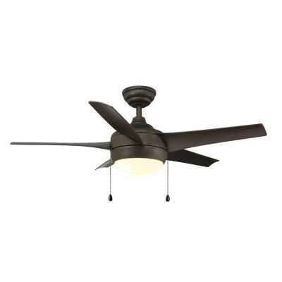 Windward 44 inch Oil Rubbed Bronze Ceiling Fan with light