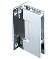 CRL Geneva 037 Series Chrome Wall Mount Full Back Plate Standard Hinge
