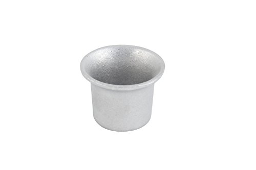 """Bon Chef 9018PG Aluminum/Pewter Glo Oyster Cocktail Sauce Cup, 2 oz Capacity, 2-1/4"""" Diameter (Pack of 24)"""